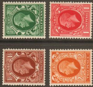 1934 George V Photogravure Watermark Sideways Stamp Set Mounted Mint SG439a-442b